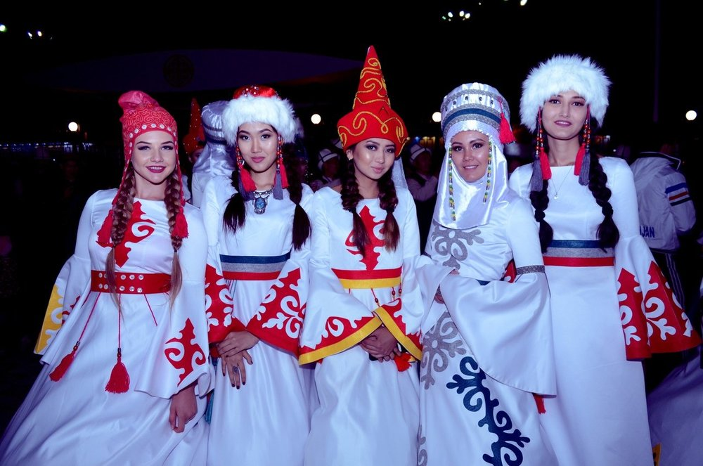 - Exhibition-fair of national costumes of nomadic nations.
