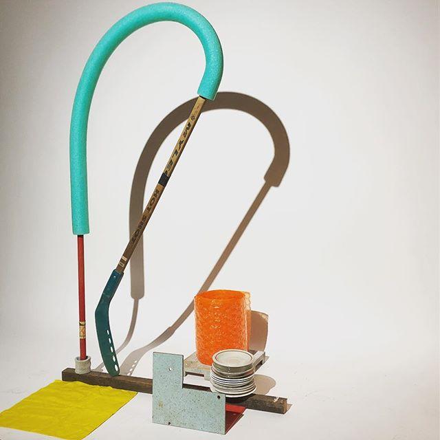 Friday night sketches. . . . . #sculpture #assemblage #sketch #contemporarysculpture #studionight #art #improvsculpture #colorfulsculpture #collage #installations