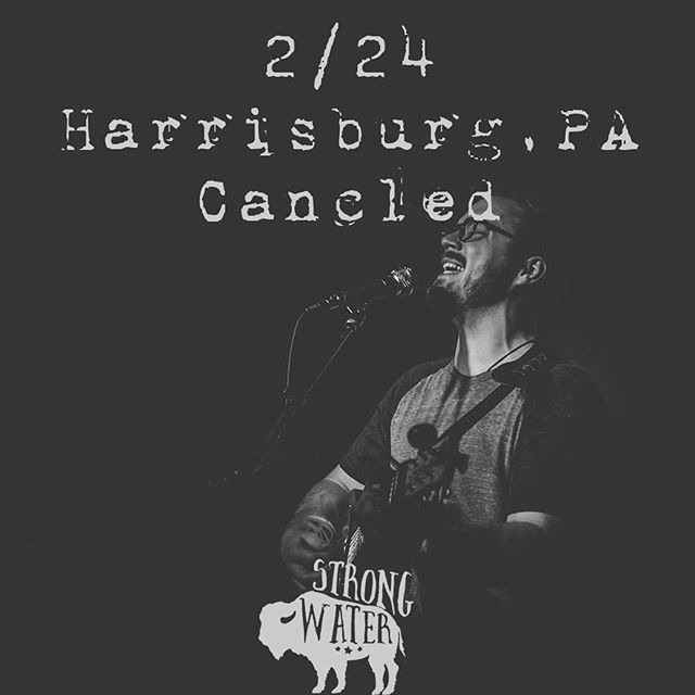 **SHOW CANCELED**. When it rains it pours! Due to some illness, work, and family related issues Strong Water will not be making an appearance at the singer songwriter showcase in Harrisburg PA this evening. But good news is our new album is almost done! Keep and eye out for it and we'll see you all next time! #strongwaterva #sorrymom