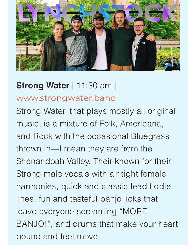 Who is coming out to see us tomorrow at Valley Fest 2018?! Music starts at 11:30am but fun goes on all day! See you there! #valleyfest2018 #strongwaterva #massanutten #folk #americana