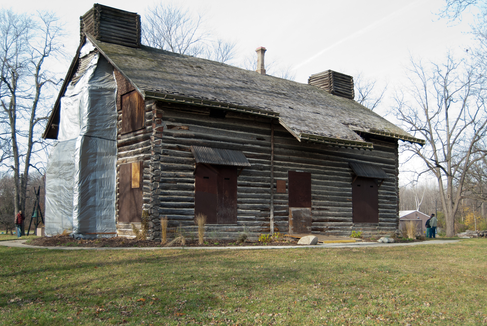 The Palmer Park Log Cabin, as seen in 2014.