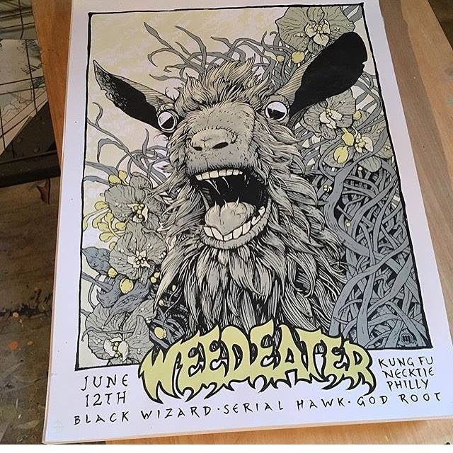 Rad poster by @bmercerrock - Phildelphia PA @ Kung Fu Necktie