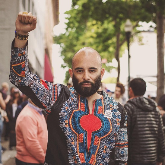"""Edwin Lindo, one of the """"Frisco 5"""" hunger strikers who protested former Police Chief Greg Suhr"""