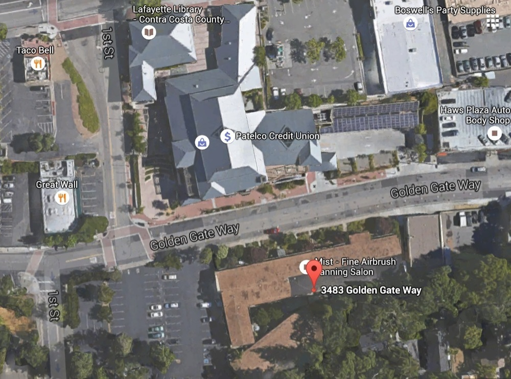 3483 Golden Gate Way, aerial view (source: Google Maps)