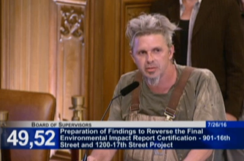 Potrero Hill resident pleading with the Board to preserve industrial and mixed-use zoning