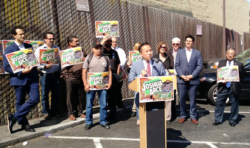 Assemblymember David Chiu speaks in favor of Arce's proposal