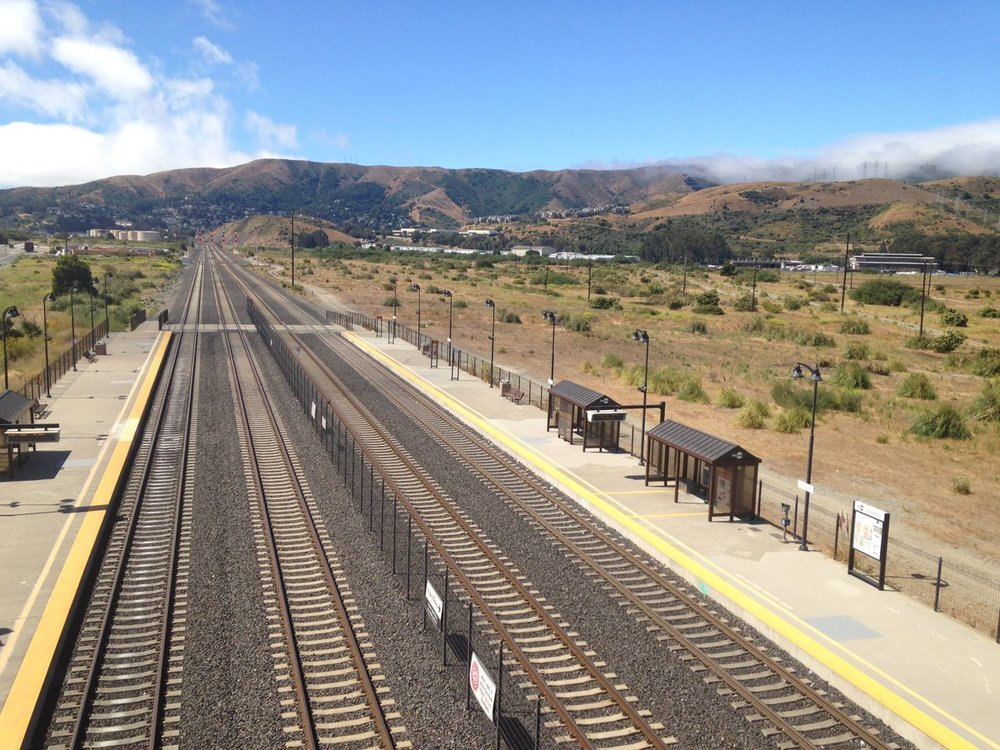 Bayshore Caltrain station (courtesy: Leora Tanjuatco)
