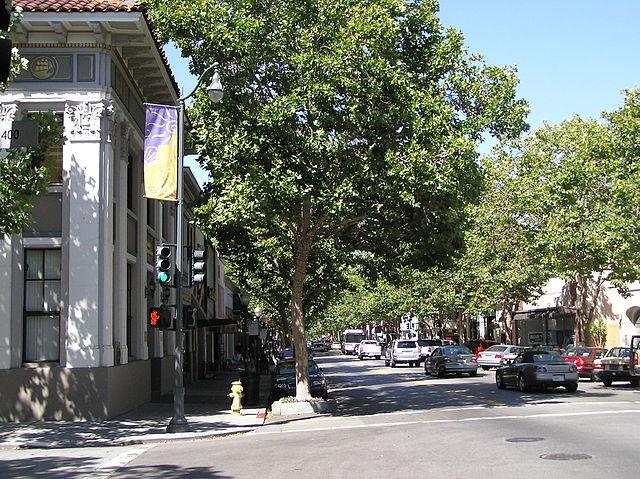 Downtown Palo Alto (stock photo)