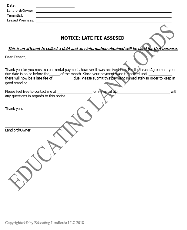 Preview of the Notice – Late Feedocument.