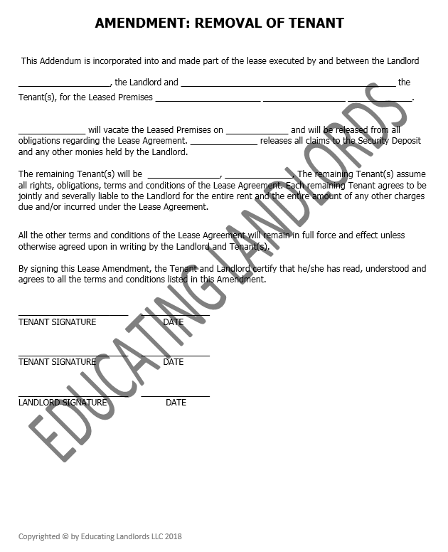 Preview of the Amendment – Remove Tenantdocument.