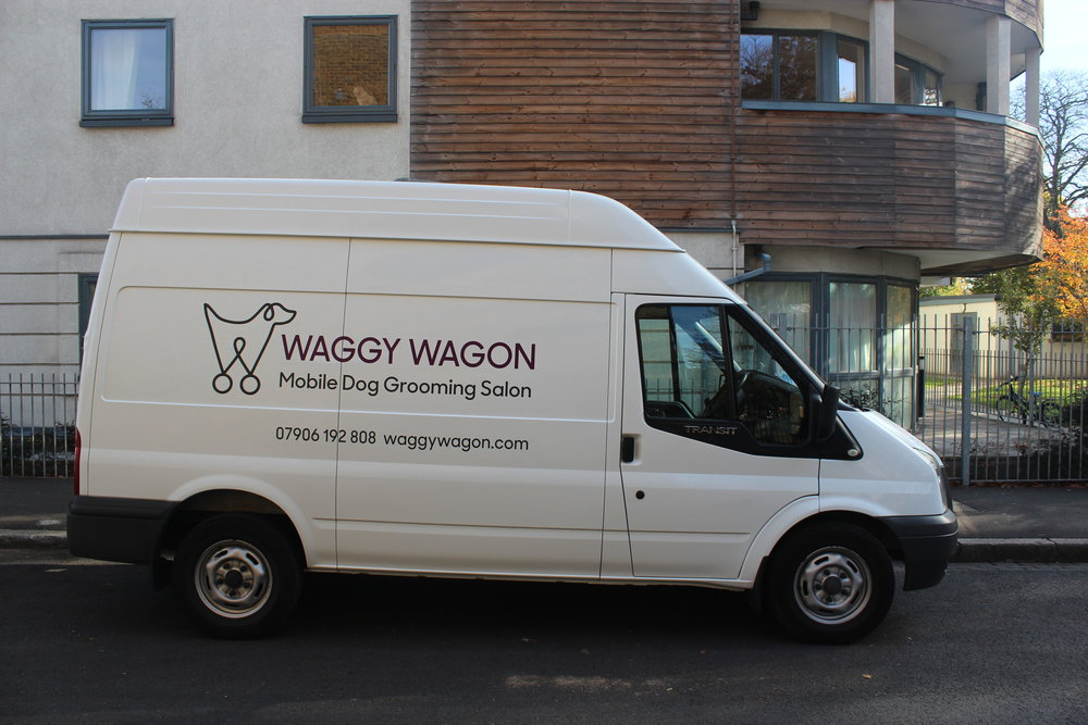 Waggy Wagon with signwriting