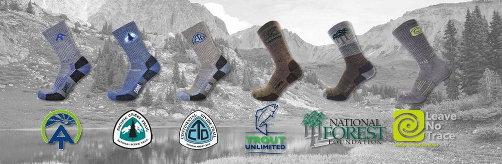 Leave No Trace ,  Trout Unlimited ,  National Forest Foundation  and  Warrior Expeditions  have joined the conservation-focused organizations supported by  Point6's Wild Playground socks series .