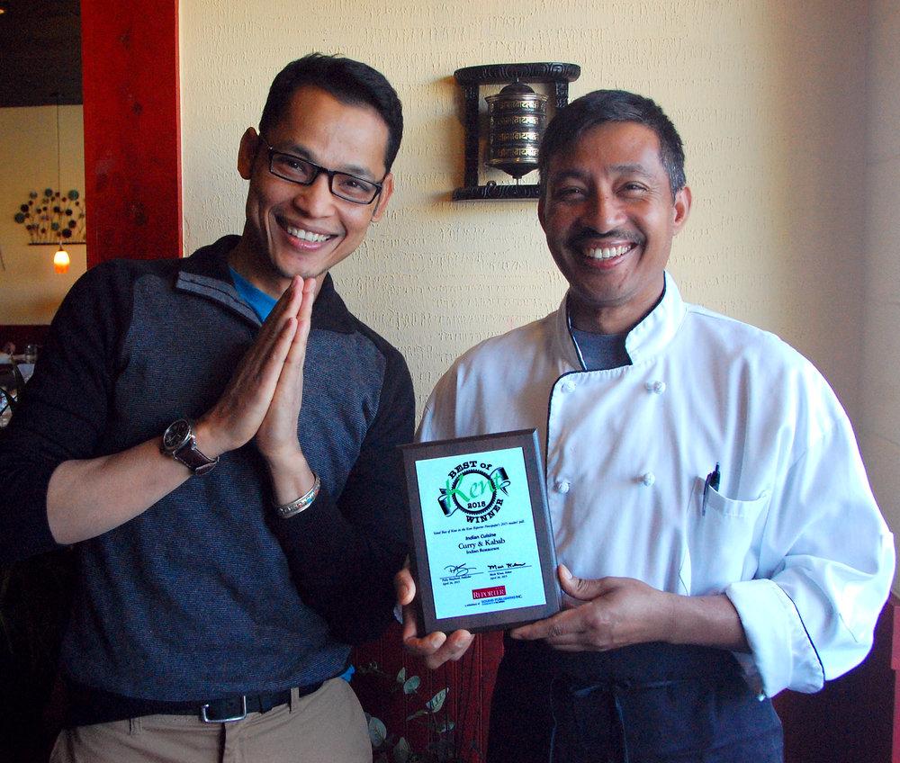 General Manager Kiran Shrestha with Executive Chef Kamal Chaudhary