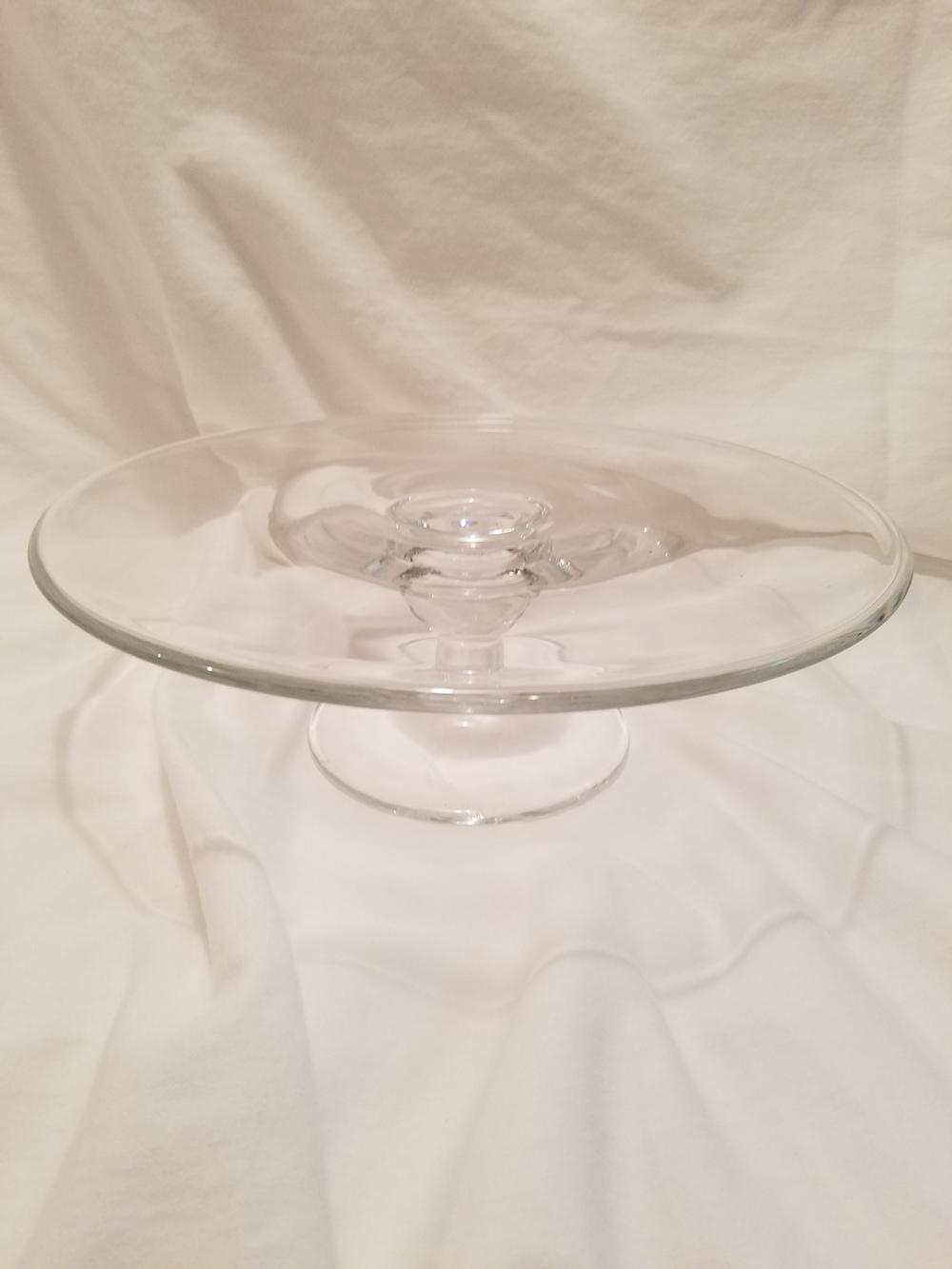 Lenox glass cake stand
