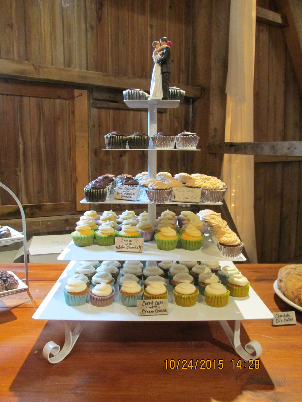 Five tiered cupcake stand