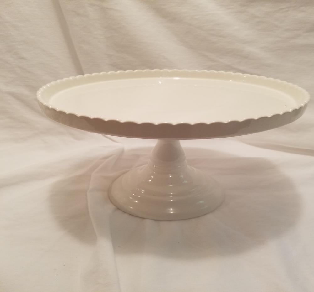 Tall white cake stand
