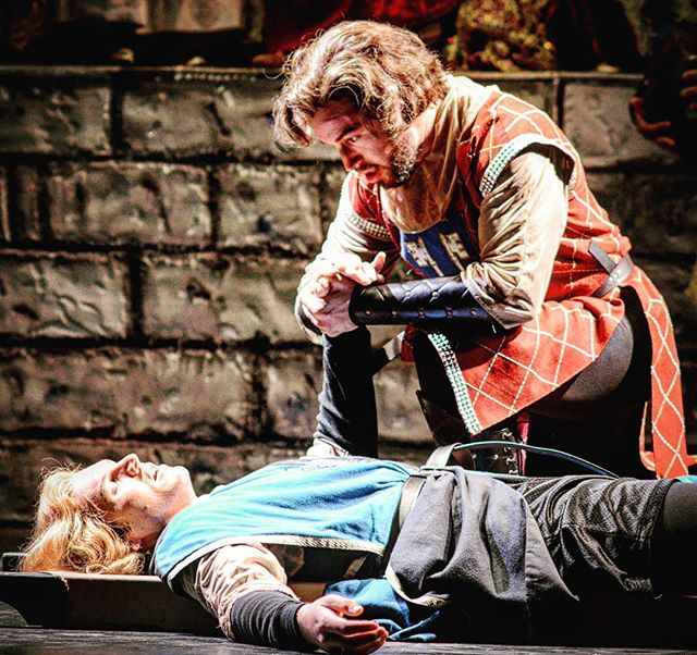 "#tbt to bringing @c_weyrauch back from the death I sent him to in ""Camelot"". #instagram #instagood #me #andclark #longhair #knightsintights"