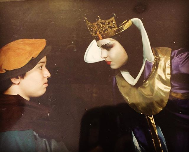 "First musical. First anything on stage. Turning to jelly under the white heat of @melissabenoist as The Evil Queen, circa 2003 at Academy of Theatre Arts.  Think I could still sing the opening song.  Back when I thought ""Wicked"" was some new band that people were going nuts over.  #theatre #stage #me #instagood #instagram"
