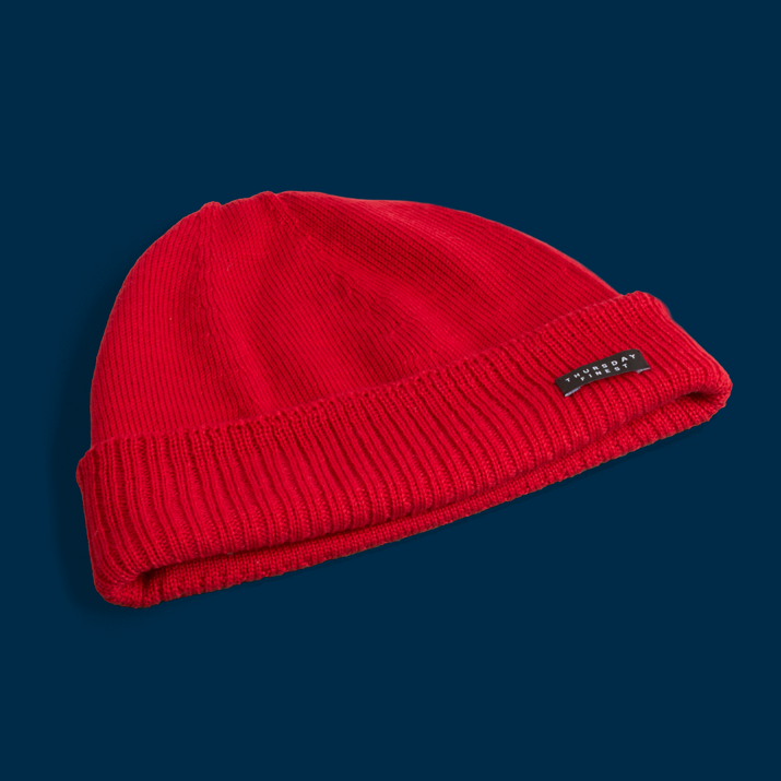 The 'Awesome Beanie' by  Thursday Finest , 3-D knit and soft as goofer feathers.