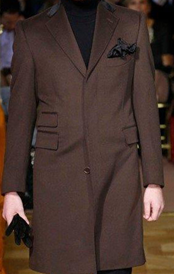 Dark Brown Covert Coat