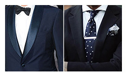 COMPLETE WEDDING PACKAGE  1 Wedding Tuxedo or Suit, 2   Egyptian Cotton (Tuxedo) Shirts, Silk Tie, and Pocket Square.  Also included, a Rehearsal Dinner Custom Sport Coat, and Egyptian Cotton Bespoke Shirt.  (add vest +$212)   Regular Price        $2625  Savings                 ($394)  Package Price      $2229