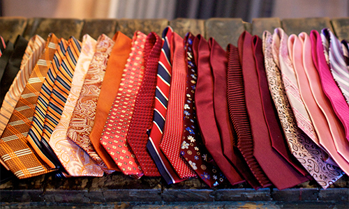 Neckties Handmade in Italy - Rich, colorful Italian handmade neckties in silk, wool, knit, and other textures, $110+.