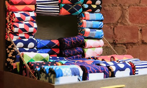 Socks with Color - Step up your sock game with stylish colors and prints, made in a luxurious yet durable pima cotton blend, $30.