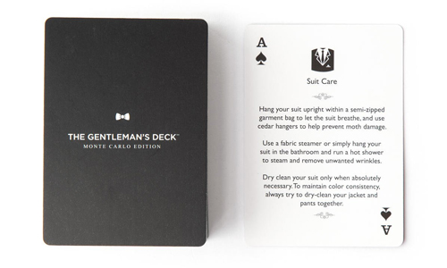 Gentleman's Card Decks - The ultimate refresher for all the gentlemen in your life, $15