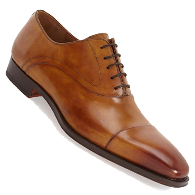 Honey Cap Toe Oxford - Honey, cognac, or tan leather shoes are great for warmer weather, outdoor weddings with lighter color palettes.
