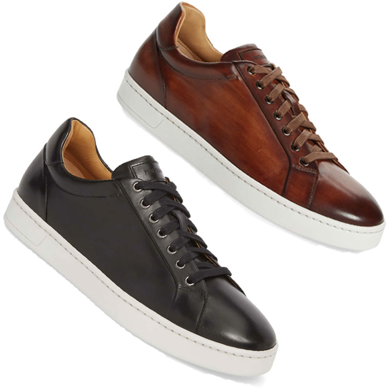 The Leather Sneaker - For the envelope pushing Groom, try a fun sneaker that will complement your perfectly tailored custom suit. Or maybe just put them on for dancing!
