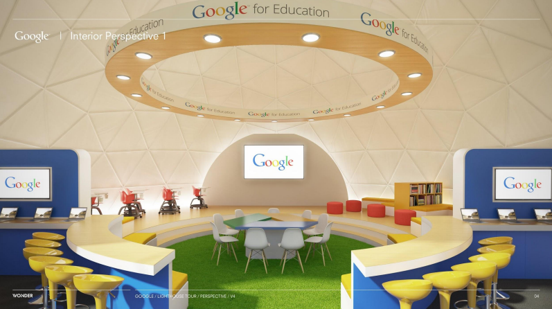 Google's Lighthouse Dome Classroom - Credit: Google For Education Roadshow