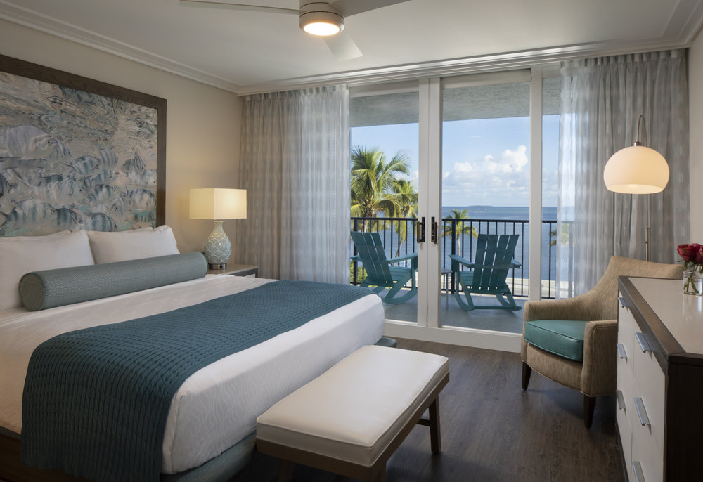 The Laureate Key West king guest room with balcony ocean view