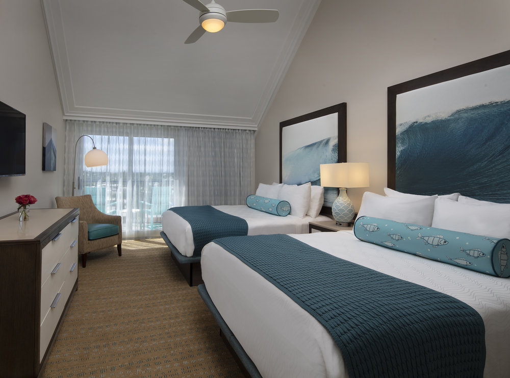 The Laureate Key West double bed guest room with balcony
