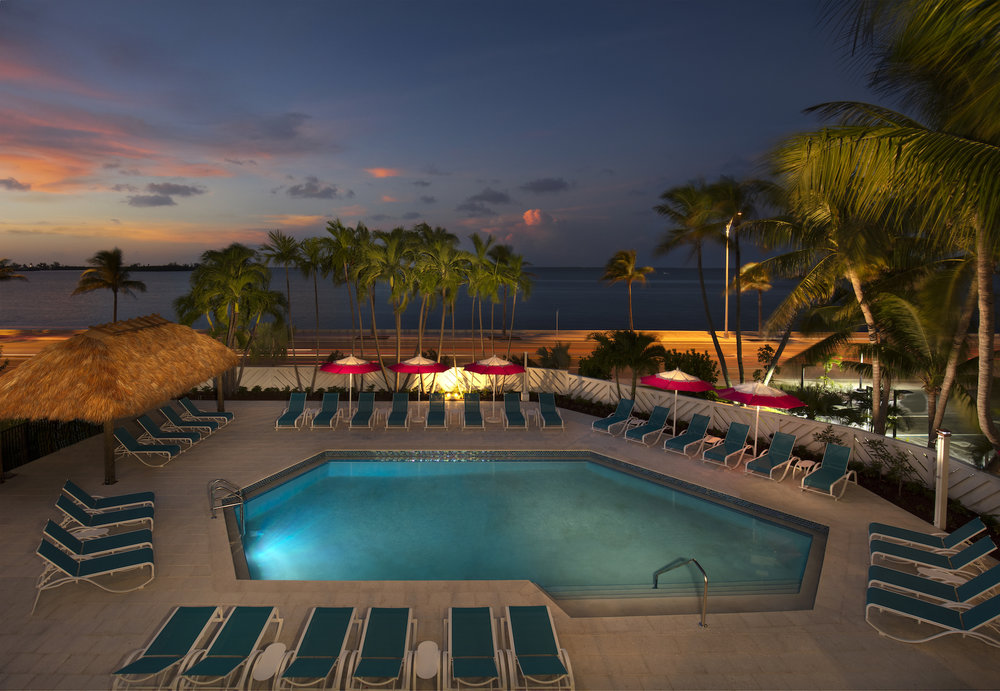 The Laureate Key West Outdoor pool nighttime