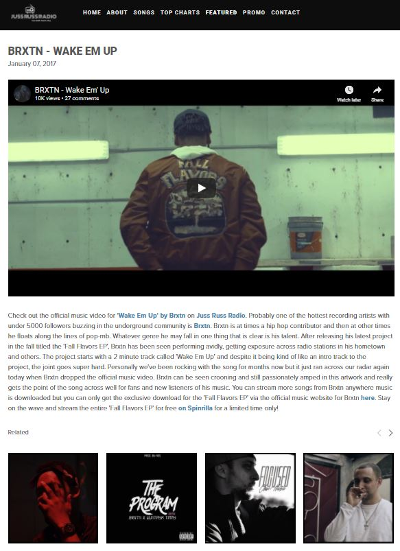 CLICK ON THE IMAGE TO VIEW THIS FEATURE ON JUSS RUSS RADIO