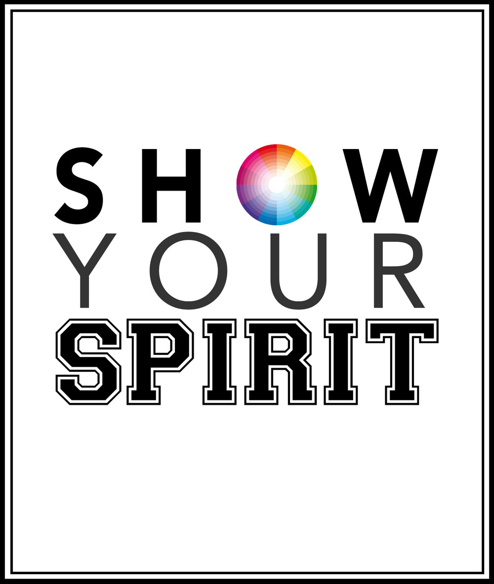 Redesigned logo for Show Your Spirit, done as part of a project for a Public Relations campaign.