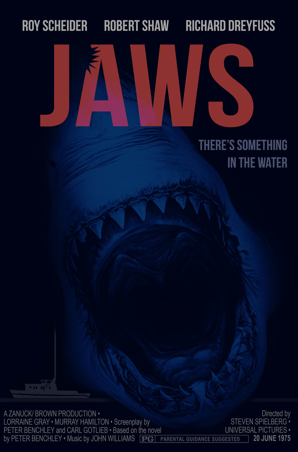 Alternative movie poster for  Jaws .