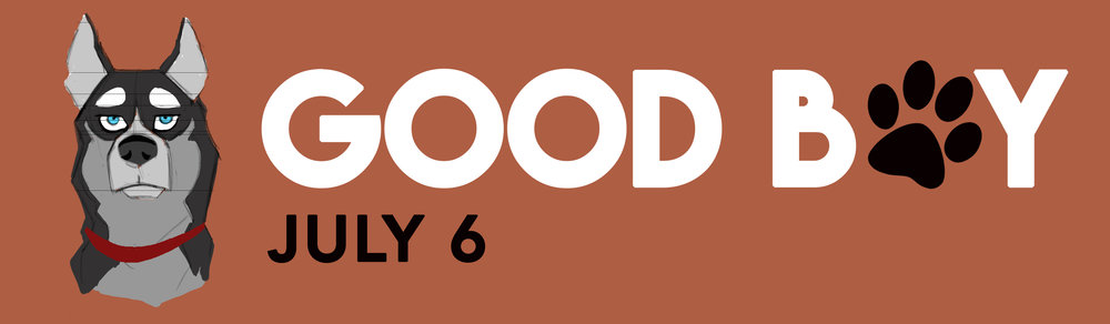Billboard mock-up for the marketing of student film,  Good Boy . Logo was designed by me.