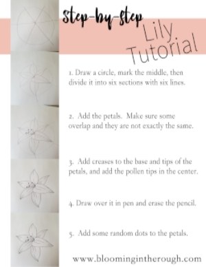 Lily Tutorial Printable