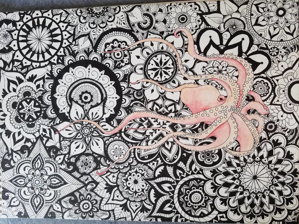 Octopus Mandala Art