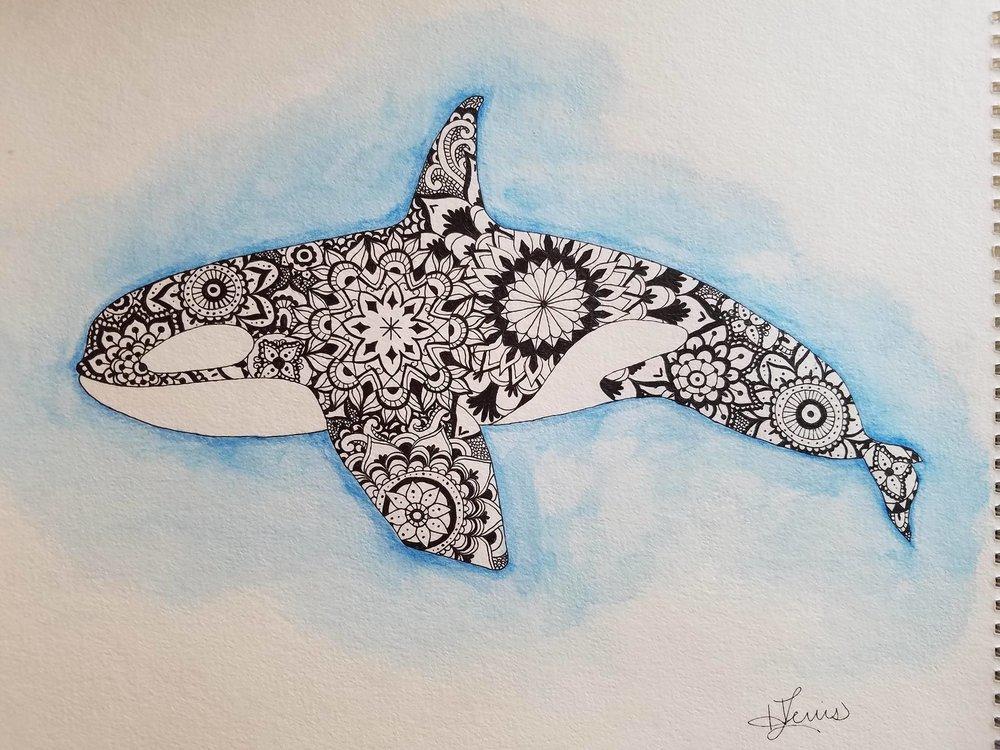 Orca Mandala Art