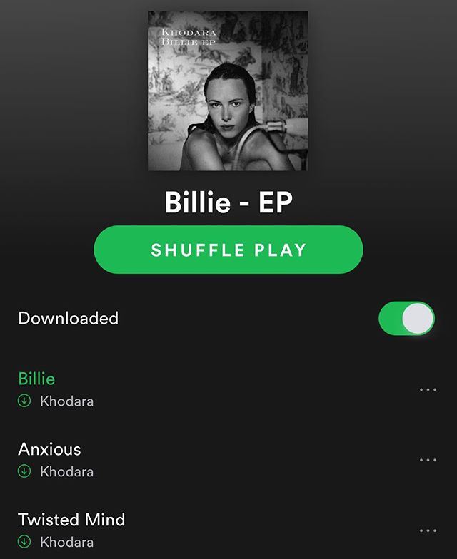 Download my latest 🎤 on @spotify #billieep #khodara #linkinbio