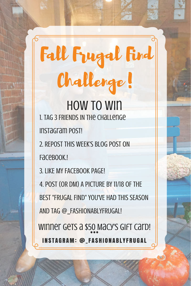 Fall Frugal Fashion Giveaway Challenge