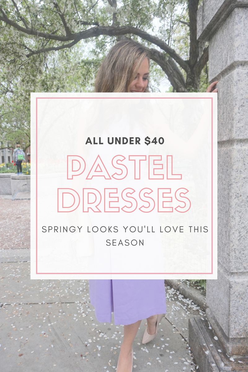 10 Pastel Dresses Under $40 To Wear This Spring