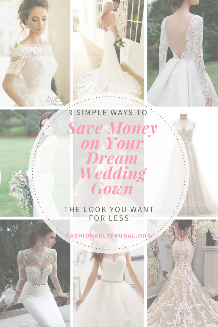 Save money on wedding dresses