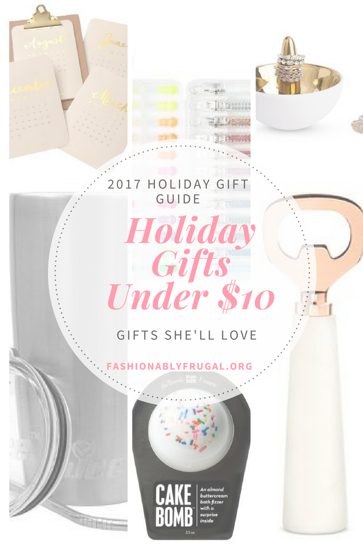 Holiday Gift Guide: Gifts She'll Love All Under $10!