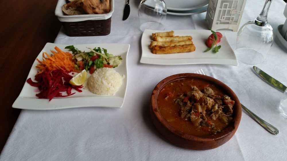 A traditional Turkish meal