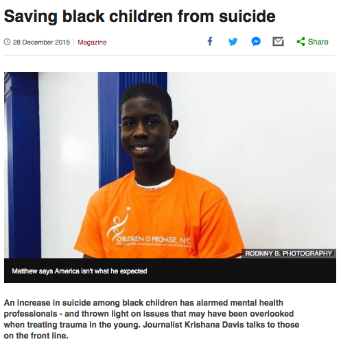 Saving Black Children From Suicide