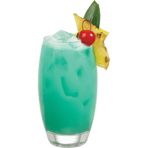 Blue Tai Affair - INGREDIENTS1 oz (30 ml) Coco Reàl3 oz (90 ml) Finest Call Mai Tai Juice Blend1 oz (30 ml) white rum0.5 oz (15 ml) blue curacaoGARNISHPineapple Wedge And CherryDIRECTIONSCombine all ingredients in a Boston glass filled with ice. Shake and strain into a tall glass filled with ice.