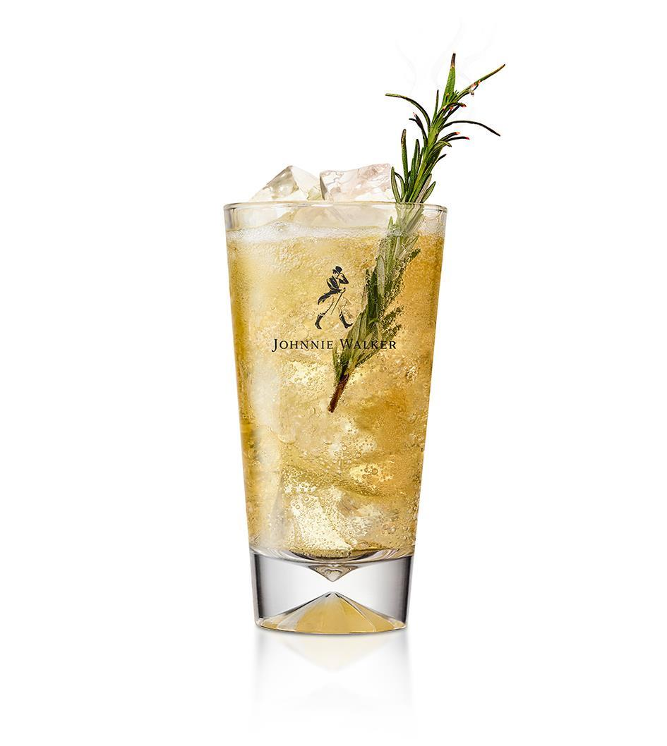 HOW TO MAKE A WHISKY SODA HIGHBALL - METHOD:1. Fill a glass with iceChoose either a collins or highball glass and fill with cubed ice.2. Add the ingredientsAdd the whisky to your preferred glass, top up with club soda.3. StirStir lightly to combine.4. Garnish.Add a sprig of toasted rosemary to garnish.